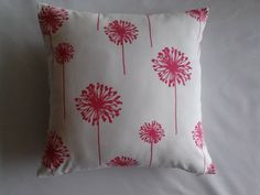 Candy Pink Dandelion Pillow Cover, Candy Pink/White Dandelion Pillow Cover, Decorative Pillow Cover, Girl's Pillow Cover