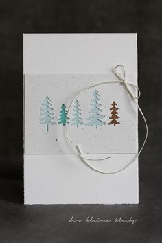 der kleine klecks: Tannenwald {Gastdesign Papierwerkstatt} Green line Artoz Fresh Pine Trees Memory Box