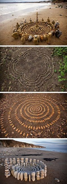 Mandala Art Nature James Brunt Organizes Leaves and Rocks Into Elaborate Cairns and Mandalas Land Art, Art Sketches, Art Drawings, Art Et Nature, Nature Artwork, Art Environnemental, Art Rupestre, Art Pierre, Art Sculpture
