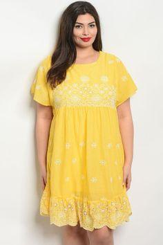 ab67bd66a63 S14-3-5-d81048x yellow off white plus size dress 2-2-2