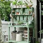 pallet wood and crates potting bench