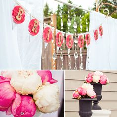 Gorgeous Vintage Bridal Shower featured on Hostess with the Mostess... love this bling banner