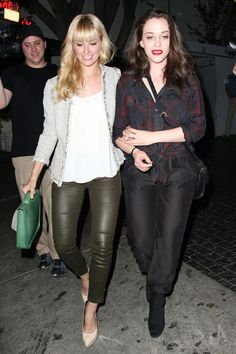 Kat Dennings Photos: Beth Behrs and Kat Dennings Leave the Chateau Marmont — Part 2