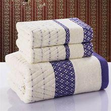 Conjunto de Toalha de banho + toalha de rosto 100% algodão 70 cm * 140 cm toalha de praia duas peças toalhas de rosto 33 cm * 75 cm de presente toalhas de banho têxtil de casa(China (Mainland))