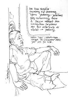 jatmika sketch & drawing: Liburan naik kereta
