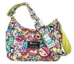 Ju-Ju-Be Tokidoki Iconic HoboBe lightweight baby changing bag. Cloth Bags, Cloth Diapers, Diaper Bag Purse, Diaper Bags, Baby Bags, Hobo Style, Baby Store, Green Bag, Balenciaga City Bag