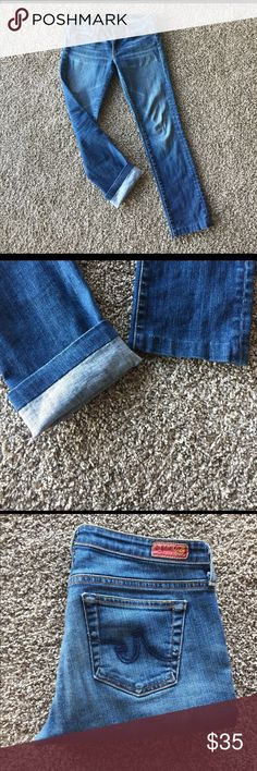 AG Adriano Goldschmied (Premiere skinny straight) AG Adriano Goldschmied Jeans. 29R. The premier skinny straight leg. They have been hemmed for me - 5'2. Used condition.. AG Adriano Goldschmied Jeans