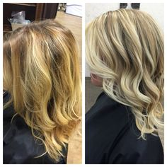Neutral blonde balayage