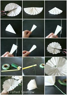 These Coffee Filter Peonies Flowers are a unique alternative to fresh flowers to brighten your decor. These Coffee Filter Peonies Flowers are a unique alternative to fresh flowers to brighten your decor. Coffee Filter Roses, Coffee Filter Art, Coffee Filter Wreath, Coffee Filter Crafts, Coffee Filters, Flower Crafts, Diy Flowers, Fresh Flowers, Fabric Flowers