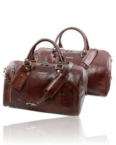 1b14429be7 Marco Polo Leather Travel set Dark Brown TL141246