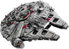 animation of more than 5,000 Lego bricks put together to create the most iconic Star Wars spaceship.
