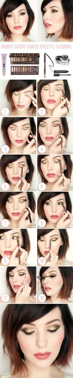 Makeup tutorial using Naked palette (original) #keikolynn #tutorial #howto