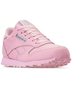 392a5b8e31f524 Reebok Girls  Classic Leather Casual Sneakers from Finish Line - LUSTER  PINK SILVER 5