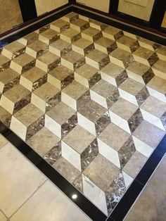 Travertine Black Marble Floor Tiles