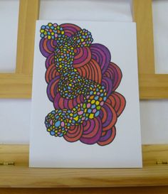 Original Art Hand Drawn Card Abstract Art by FatassDesigns on Etsy