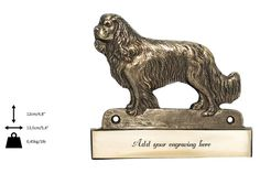Cavalier, dog plaque, can be engraved, limited edition, ArtDog Cavalier, Lion Sculpture, Statue, Canning, Dogs, Etsy, Art, Art Background, Pet Dogs