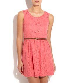 Coral Lace Dress !