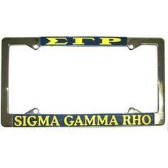 Sigma Gamma Rho License Plate Frame - Rah Rah Co. rrc