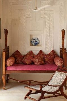 Lamu Baytil Ajaib Hotel -- A day bed in the sitting area