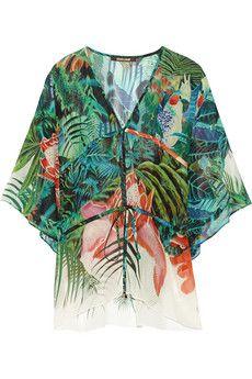 Roberto Cavalli Printed silk-georgette kaftan | NET-A-PORTER