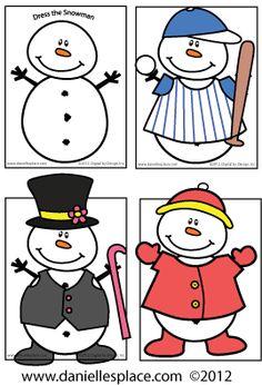 Dress the Snowman Activity Sheet