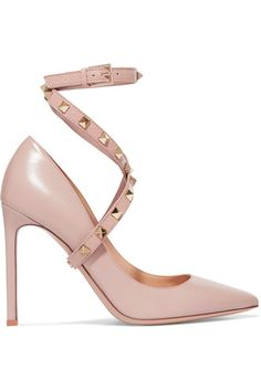 e68a8573baa54c Valentino - Studwrap Leather Pumps - Blush Valentino Shoes