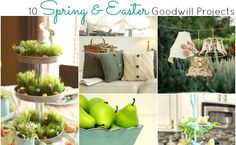Thaw out and get in the mood for Spring on a budget with these gorgeous Spring and Easter Goodwill Projects!