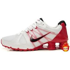 ... Black Silver www.asneakers4u.com/ Mens Nike Shox Agent White Red ...