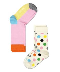 Another great find on #zulily! Pink & Yellow Anklet Socks Set - Infant, Toddler & Kids by Happy Socks #zulilyfinds