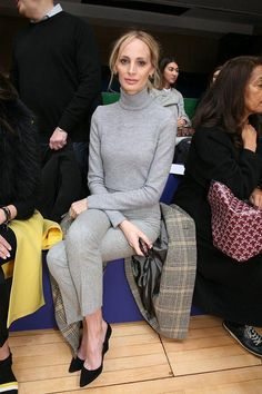 Keeping things slightly more conservative was Lauren Santo Domingo whose fifty-shades-of-gray outfit left us breathless