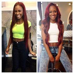 4 Bundles Burgundy Weave 7A Brazilian Virgin Hair Straight Color 99J Burgundy Weave Straight Fast Deals Ms Lula Hair