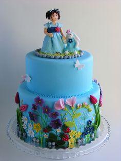 Bunny and girl cake