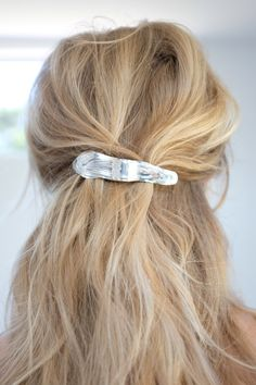 Leigh Miller Sterling Silver Alaria Barrette - All For Hairstyles Fall Blonde Hair, Blonde Hair Shades, Blonde Hair Looks, Blonde Color, Perfect Blonde Hair, Gold Blonde, Sandy Blonde, Ash Blonde, Hair Colour