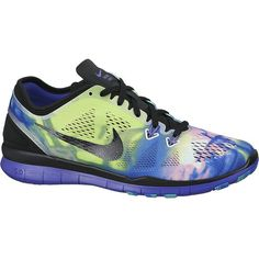 cb18a2f3ced577 Buy Green Violet Nike Free TR Fit 5 Print Women s Cross Trainers from our Womens  Shoes