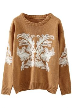 Chic Christmas-Inspired Snowflake Print Sweater