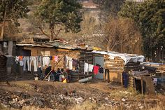 South African slums Here On Earth, Slums, Country Farmhouse, Landscape Architecture, Habitats, Around The Worlds, Street View, Farm Houses, City