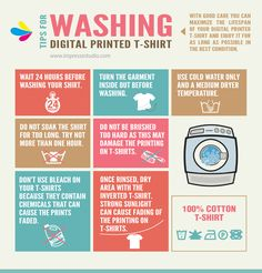 TIPS FOR WASHING YOUR DIGITAL PRINTED T-SHIRT. with good care you can maximize the lifespan of your digital printed shirt and enjoy it for as long as possible in the best condition.