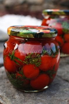Pomidory kiszone Good Food, Yummy Food, Polish Recipes, Preserves, Mason Jars, Vegan Recipes, Food And Drink, Tasty, Homemade