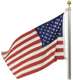 745d4ca0a Valley Forge Flag 3 X 5 Foot Nylon Us American Flag Kit With 20-Foot