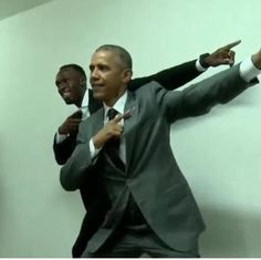 Usain Bolt and President Obama