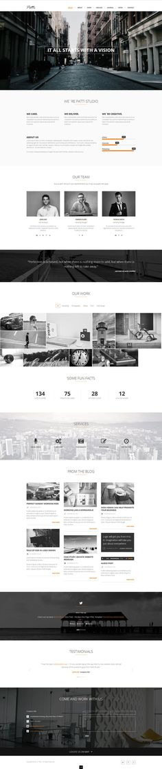 Patti - Parallax One Page HTML Template by  Latest News & Trends on #webdesign | http://webworksagency.com