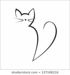 Vetor stock de Calligraphy Cat (livre de direitos) 137168216 Imagens, fotos stock e imagens vetoriais de Cats Drawings Totem Tattoo, Doodle Art, Cat Tattoo Designs, Rock Painting Designs, Art Designs, Cat Quilt, Cat Silhouette, Cat Drawing, Easy Drawings