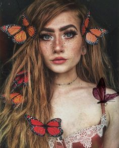 She's beautiful, look at how she did her makeup and DIDN'T hide her freckles!, She's beautiful, look at how she did her makeup and DIDN'T hide her freckles! Makeup Inspiration, Character Inspiration, Makeup Ideas, Elf Makeup, Fantasy Inspiration, Daily Inspiration, Travel Inspiration, Hair Makeup, Character Design