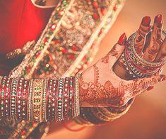 bangles, henna, and wedding image