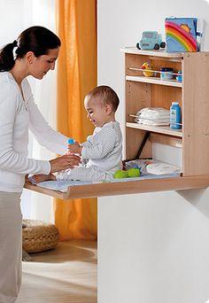 Opklapbare #commode: handig idee voor de #babykamer | Foldable dresser: handy idea for the #nursery!