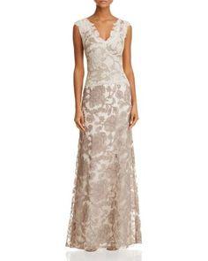 Tadashi Shoji Two-Tone Lace Gown | Bloomingdale's