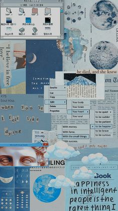 Vintage Wallpaper Iphone, Cute Blue Wallpaper, Iphone Wallpaper Tumblr Aesthetic, Aesthetic Pastel Wallpaper, Aesthetic Backgrounds, Galaxy Wallpaper, Aesthetic Wallpapers, Blue Wallpapers, Pretty Wallpapers