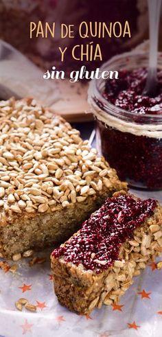 Este delicioso y húmedo pan de quínoa y chía será tu favorito, además de ser un pan que no contiene gluten, es muy saludable debido a su gran contenido de fibra, es una excelente opción para celiacos.