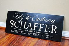 Personalized Family Name Sign Wedding Gift Custom Carved Wooden Signs Last Name Décor Established Wood Plaque Engraved. Thank you for checking out our beautiful handmade Home Decor! We sell handmade, high quality, and wonderful custom carved or painted designs-family name signs,Established signs, Last Name signs, Established plaque carved signs, Wedding Gifts, Wedding Accessory, Wedding Welcome signs ... Pretty much everything, you can contact us for your own custom design for any…