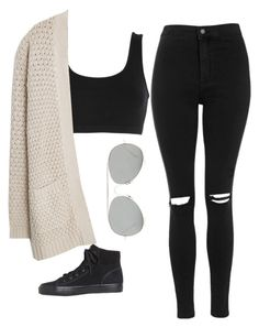 """""""Crop top in winter"""" by blondeblogger23 on Polyvore featuring Keds, Topshop, adidas Originals, MANGO and Acne Studios"""